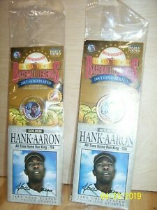 HANK AARON   HALL OF FAME   LEGENDS COLORIZED 1999 GEORGIA QUARTERS NEW QTY 2
