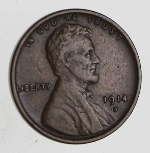 1914 D LINCOLN WHEAT CENT   CIRCULATED  7471