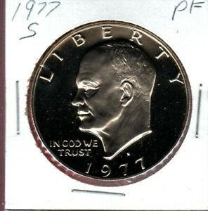 1977 S IKE DOLLAR A NICE CLAD PROOF CAMEO COIN HERE BUY IT NOW C1091