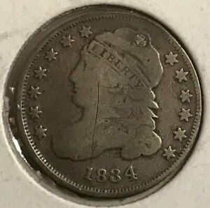 1834 BUST DIME LARGE SIZE