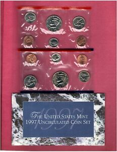 1997 P & D U.S.MINT SET NICE CHOICE BU COINS IN THIS SET D120