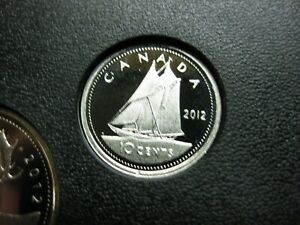 2012 CANADIAN NICKEL PROOF DIME  $0.10