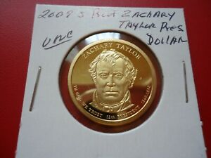 2009 S  PROOF UNCIRCULATED ZACHARY TAYLOR  PRESIDENTIAL DOLLAR COIN