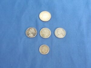 VINTAGE UNITED STATES OF AMAERICA COIN LOT SILVER QUARTER AND DIME INDIAN HEAD