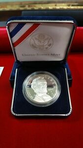 2009 ABRAHAM LINCOLN COMMEMORATIVE PROOF SILVER DOLLAR   US MINT WITH BOX & COA