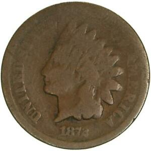 1872 INDIAN HEAD CENT GOOD PENNY GD