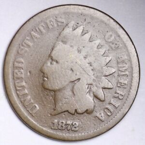 1872 INDIAN HEAD SMALL CENT CHOICE G   E157 RMM