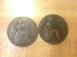 1907 GREAT BRITAIN LARGE CENT 1 COIN