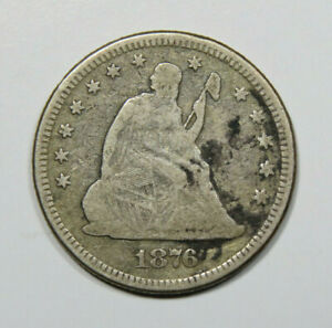 1876 SEATED LIBERTY QUARTER US COIN