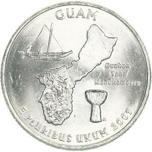 2009 D TERRITORIES QUARTER GUAM BU CN CLAD US COIN