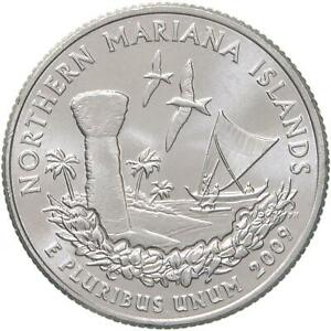 2009 D TERRITORIES QUARTER NORTHERN MARIANA ISLANDS GEM BU CN CLAD US COIN