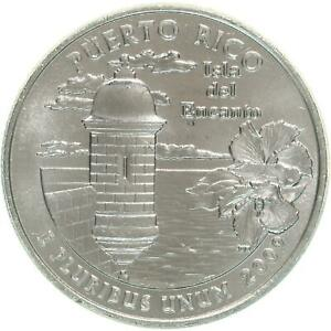 2009 D TERRITORIES QUARTER PUERTO RICO GEM BU CN CLAD US COIN