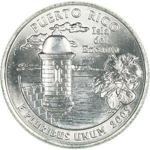 2009 D TERRITORIES QUARTER PUERTO RICO CHOICE BU CN CLAD US COIN