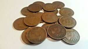 1891 1908 INDIAN HEAD CENT   19 COINS   MIXED LOT