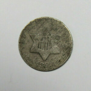 1852 THREE CENT SILVER US COIN