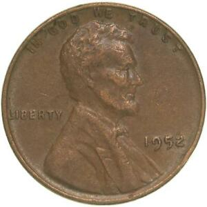 1952 LINCOLN WHEAT CENT EXTRA FINE PENNY XF