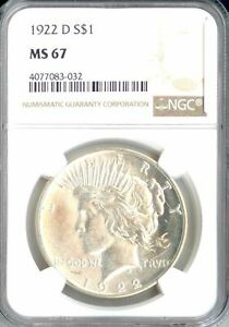Click now to see the BUY IT NOW Price! 1922 D PEACE DOLLAR MS67 NGC  PA4077083032