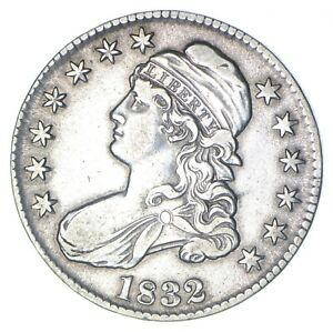 1832 CAPPED BUST HALF DOLLAR   CIRCULATED  0344