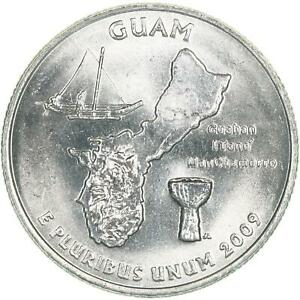 2009 D TERRITORIES QUARTER GUAM CHOICE BU CN CLAD US COIN
