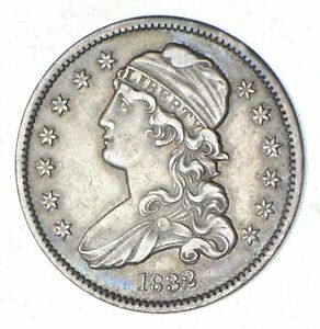 1832 CAPPED BUST QUARTER   CIRCULATED  7036