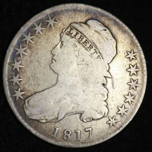 1817 CAPPED BUST HALF DOLLAR CHOICE FINE   E349 AFT