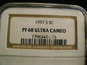 1997 S JEFFERSON PROOF NICKEL NGC PF68 ULTRA CAMEO & COLOR