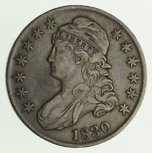 1830 CAPPED BUST HALF DOLLAR   CIRCULATED  4162