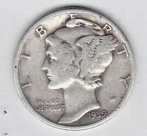 1939 MERCURY DIME IN GOOD CONDITION .STK 1