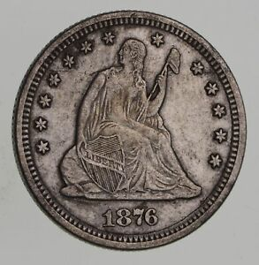 1876 SEATED LIBERTY QUARTER   NEAR UNCIRCULATED  7664