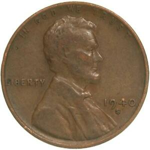 1940 S LINCOLN WHEAT CENT FINE PENNY FN