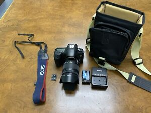 CANON EOS 60D 18.0 MP SLR CAMERA WITH SIGMA 18 250MM F3.5 6.3 LENS   ACCESSORIES