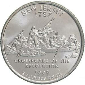 1999 P STATE QUARTER NEW JERSEY CHOICE BU CN CLAD US COIN