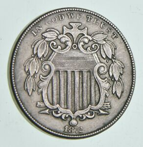 1872 SHIELD NICKEL  7161