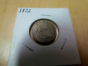 1872 SHIELD NICKEL XF NICE ORIGINAL COIN