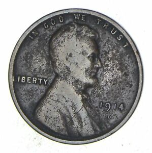 1914 D LINCOLN WHEAT CENT   CIRCULATED  8235