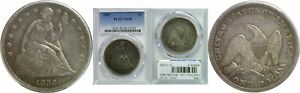 1859 SEATED LIBERTY DOLLAR PCGS XF 40