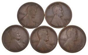 LOT  5  1914 D LINCOLN WHEAT CENTS  4438