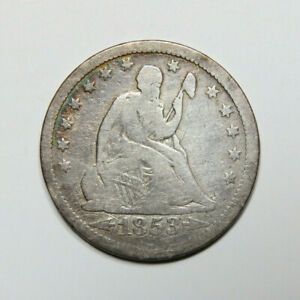 1853 SEATED LIBERTY QUARTER US COIN