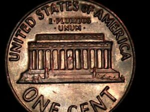 1969 P LINCOLN ERROR CENT  ITEM 238  DOUBLED DIE REVERSE NOT MCH/DBLG. IN 2X2.