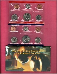 1995 P & D U.S.MINT SET NICE CHOICE BU COINS IN THIS SET D117