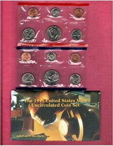 1995 P & D U.S.MINT SET NICE CHOICE BU COINS IN THIS SET D118