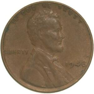 1948 LINCOLN WHEAT CENT EXTRA FINE PENNY XF