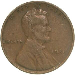 1931 LINCOLN WHEAT CENT GOOD PENNY VG