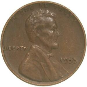 1955 LINCOLN WHEAT CENT EXTRA FINE PENNY XF