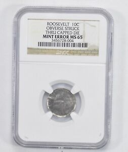 Click now to see the BUY IT NOW Price! MINT ERROR MS65 ROOSEVELT DIME   NGC GRADED  2044