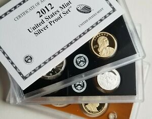 2012 US MINT SILVER PROOF SET WITH ORIGINAL BOX AND COA   14 COINS