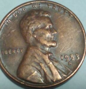 1953 S LINCOLN WHEAT CENT  ERROR DIE CRACK  AND MORE
