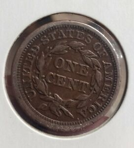 1856 LARGE CENT UPRIGHT 5'S