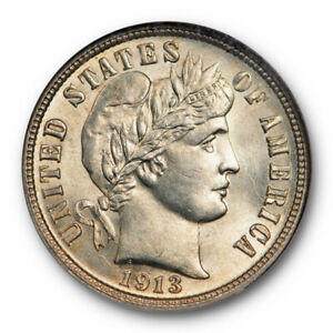 1913 S BARBER DIME 10C NGC MS 64 UNCIRCULATED BETTER DATE TOUGH DATE