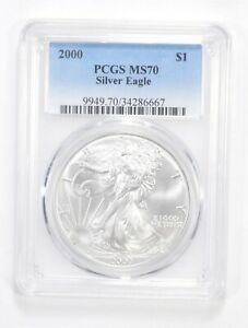 Click now to see the BUY IT NOW Price! MS70 2000 AMERICAN SILVER EAGLE   GRADED PCGS  5564